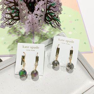 ❗️LAST1❗️Kate Spade Disc Ball Drop Earrings Gray